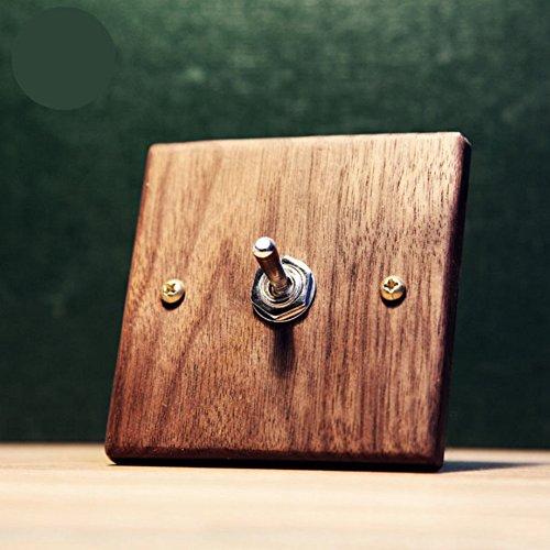 Ab 2-wege-schalter Box (zantec Schalter Art Vintage rot Eiche Holz Wandleuchte auf/Off Rocker Kippschalter 86-type)