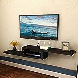 Xiaolin Stockage de partition Moderne Simple étagères TV Set étagère supérieure sur Le Mur étagère Murale Murale TV Armoire décoration Multicolore en Option (Couleur : Noir, Taille : 100 * 20cm)