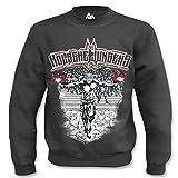 Kölsche Jungens Sweatshirt Schwarz Herren Sweater Pullover, Größe:L - Large