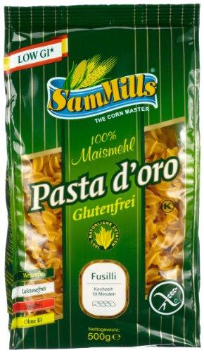 Pasta d´oro – Glutenfreie Nudeln (Fusilli) aus Maismehl 12er Pack (12 x 500 g)