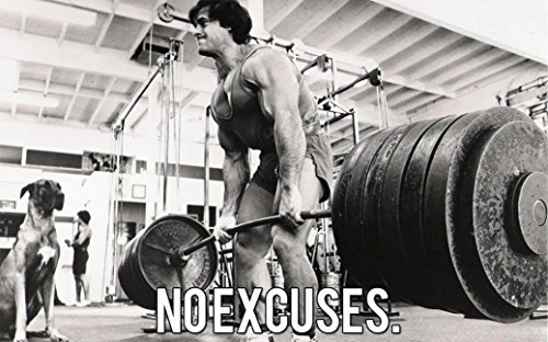 NewBrightBase Bodybuilding Fitness Motivation Motivational Stoff Wand Poster Gerollt Print --Größe: (91,4x 61cm/50,8x 33cm) 36