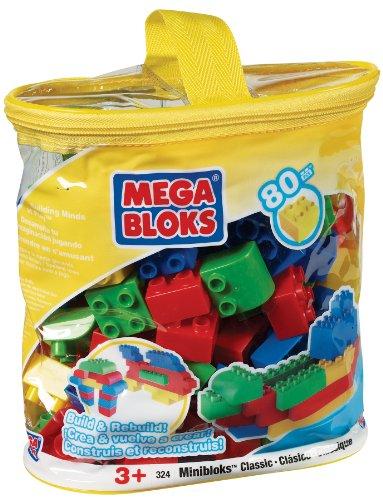 Mega Bloks 00324U Bolsa Clásica Mini Bloques 80