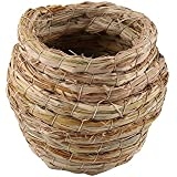 Handwoven Bird Nest Handmade Straw Nest For Parakeets Cockatiels And Small Pet