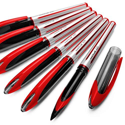uni-ball UBA-188-L Air, penna a sfera media con punta da 0,7 mm, confezione da 12, colore: rosso