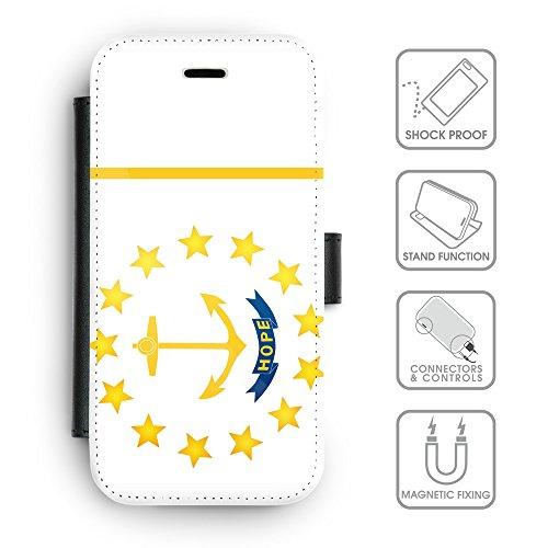 Delle cellule Phone Card Slot cassa del raccoglitore di cuoio // V00001439 Bandiera del Rhode (Pronto Basamento Della Bandiera)
