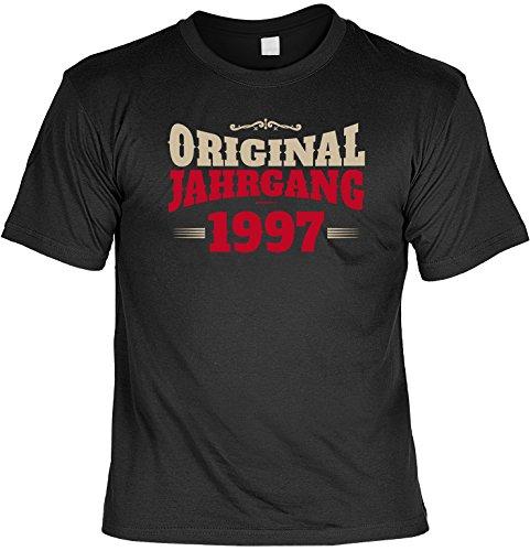 Zum Geburtstag - Original Jahrgang 1997 - T-Shirt - Perfekt als Geschenk Schwarz