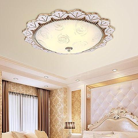 Zqww Ceiling lamp La base de lámpara de techo Continental Europe LED lámpara de techo románticas a la luz de la sala sala patrones de luz de techo, oro, sin un