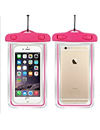 "Funda Impermeable, Funda de silicona, Funda de bolsa para Apple iPhone 6S 6,6S Plus, SE 5S, Samsung Galaxy S7, S6 Nota 5 4, HTC LG Sony Nokia Motorola hasta 6.0 ""de diagonal rojo"