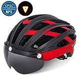 Victgoal Cycle Bike Helmet with Detachable Magnetic Goggles Visor Shield for Women Men