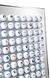 Golfball Setzkasten für 24, 48 oder 80 Golfbälle - Schaukasten, Golf-Regal, Vitrine, Display aus Aluminium - Das Origi
