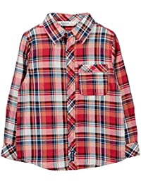 Beebay Boys Orange Check Shirt (Orange)