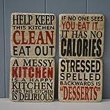 Best Cadeaux pour les cuisiniers - Sous Verre Phrases Happy Kitchen En Céramique Review