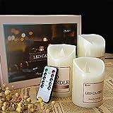 YIER LED Flammenloses Kerzen Licht Dekor mit Batteriebetriebenem für Weihnachtshochzeits Geburtstagsfeier Kerze Dekorationen
