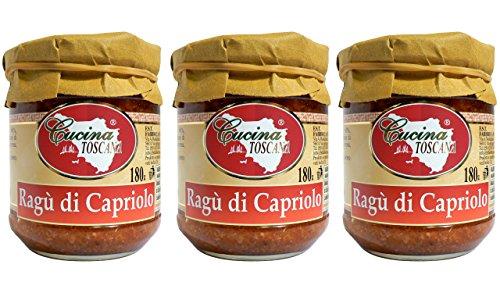 Ragù di Capriolo Produzione Artigianale Cucina Toscana - 180g