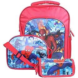 Okji Enterprises Spider-Man 1 Sling Bag & 1 Pencil Box ,1 School Bag