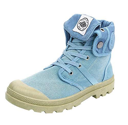 Damen Stiefel Palladium Style Fashion High-top Militär Ankle Schuhe Freizeitschuhe