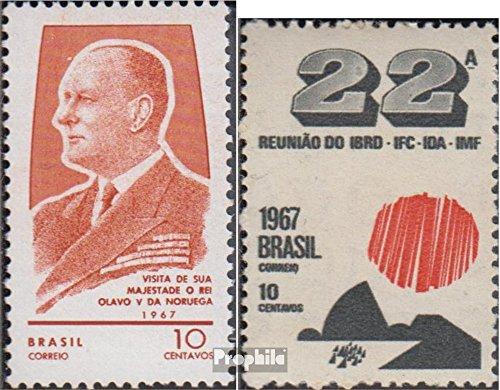 Prophila Collection Brasilien 1146,1147 (kompl.Ausg.) 1967 König Olav V., Weltbank (Briefmarken für Sammler)
