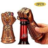 2PCS Abridor de botellas de vino, Marvel Guante de cerveza Infinity Gauntlet Thanos Fist Abridor de tapas de cerveza, ideal para bares,amantes de la cerveza de cumpleaños para los niños Marvel Fans