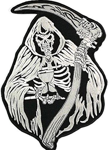 kull Tattoo Lady Rider Biker Jacket T Shirt Patch Sew Iron on gesticktes Badge Schild Kostüm (Womens Lady Sensenmann Kostüme)