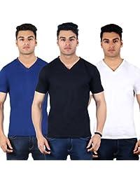Diaz Soft Cotton V-Neck T-Shirt For Men Pack Of 3