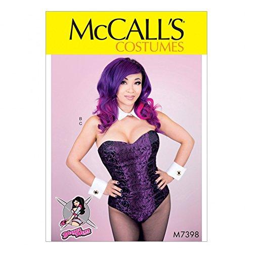 McCall's Damen-Schnittmuster 7398Body-Korsett, Kragen, Manschetten & Schwanz -