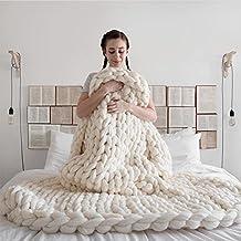 Plaid tricot - Plaid maille geante ...