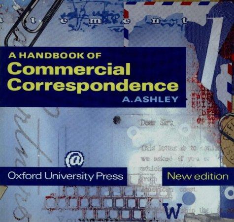 A HANDBOOK OF COMMERCIAL CORRESPONDENCE