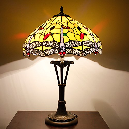Yellow Dragonfly 16inch Tiffany Table Lamp