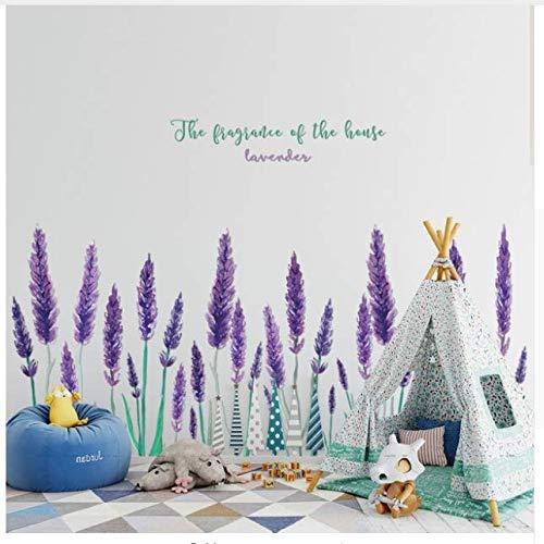 Lila Lavendel Wandaufkleber Schlafzimmer Dekor Tv Hintergrund Home Decor Wohnzimmer Wandtattoo Fenster Aufkleber