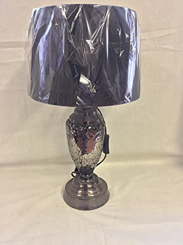 **REDUCED TO CLEAR SALE** Vintage Retro Black Urn Mosaic Bedside Table Desk Lamp - A stylish Accessory for any home