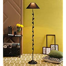 Black Cotton Leaf Floor Lamp /Standing Lamp By New Era For Living Room /Drawing Room/Office/Bedroom/Decoration /Corner/Gift/Lobby