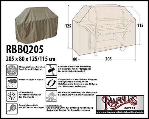 RBBQ205 BBQ Grill Abdeckhaube Gasgrill Schutzhülle Outdoor-Küchen Haube Grillabdeckung Wetterschutzhülle für Grill, Abdeckplane BBQ (Outdoor-grill-hauben)