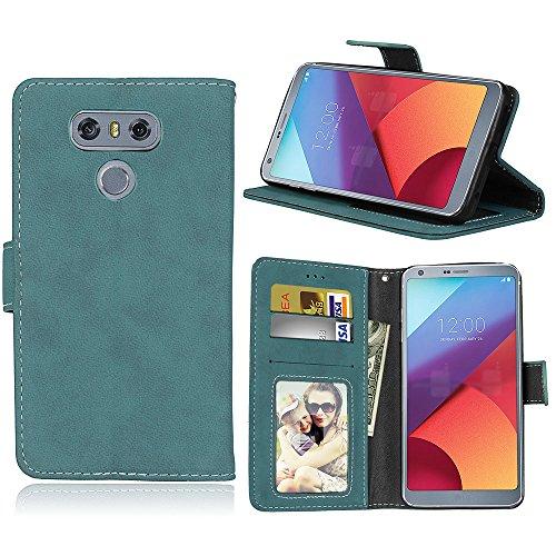 Handy Tasche LG G6, Lifeepro [Kartensteckplätze] Mit PU Leder Ultra Dünne Klapp-Handy Tasche magnet handytasche bookstyle Flip Case für LG G6(Blau) (Slim-layer-karte)