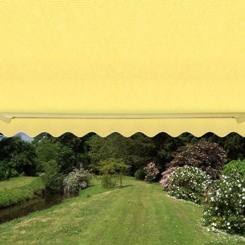 Primrose Toldo de Cofre Eléctrico, de Color Amarillo Limón, 2.5m