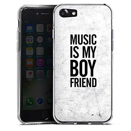 Apple iPhone X Silikon Hülle Case Schutzhülle Musik Liebe Freund Silikon Case transparent
