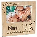 Nan macht die Welt weicher Freundlicher und Stövchen Holz Schmetterling Bilderrahmen Block