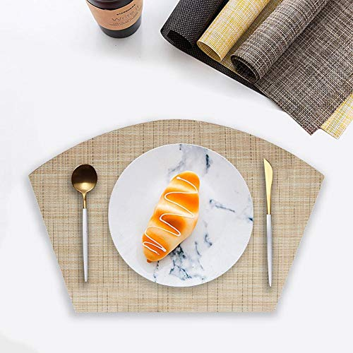 Somedays Silikon-Untersetzer-Matten, 6ps PVC-Mehrzweckküche-hitzebeständige Matte Rutschfeste Silikon-haltbare Untersetzer-Geschirr-Isolierungs-Kissen-Schalen-Tischsets