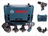 Bosch GSR 12V-20 Professional Akku Bohrschrauber brushless 20 Nm in L-Boxx mit 2x GBA 6,0 Ah und GAL 1230 CV Ladegerät