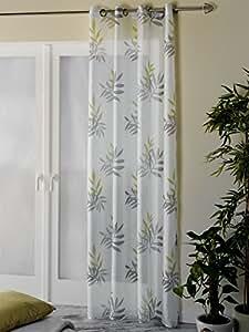 senschal fertiggardine bambus gr n 135x245cm k che haushalt. Black Bedroom Furniture Sets. Home Design Ideas