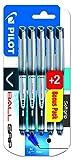 Pilot 0.7 mm Vball Grip Liquid Ink Rollerball Pen - Black (Pack of 5)