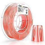 AMOLEN Imprimante 3D Filament PLA 1.75mm, Soie Orange 200G,+/- 0.03 mm Matériaux d'impression 3D en filament, comprend des échantillons de Filament de Soie Jaune.