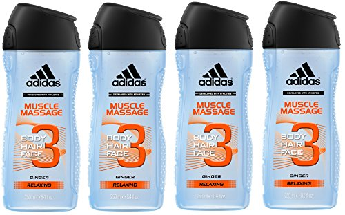 Adidas - Gel Douche 3 en 1 Muscle Massage - 250ml - Lot de 4