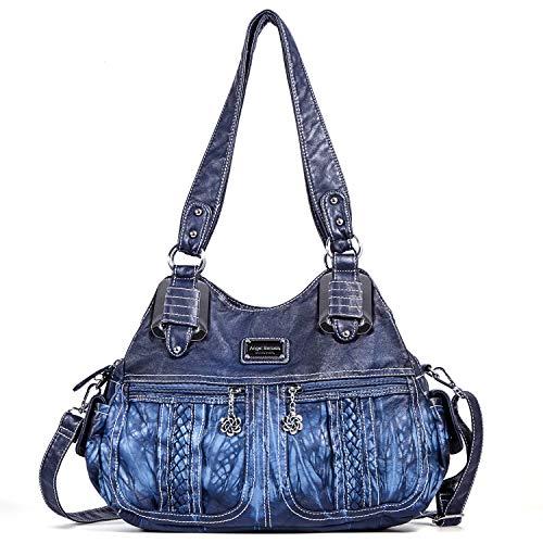 Angel Barcelo Geldbörsen und Handtaschen für Frauen Damen Umhängetasche Designer Tie Dye Satchel Fashion Totes für Mädchen (0038 Blau)
