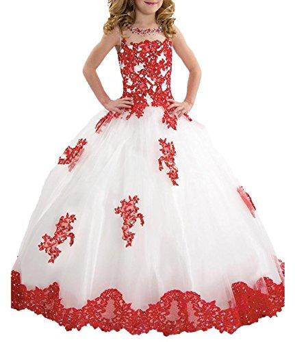 KeKeHouse®Bambina Fiore Abiti Per sposa Principessa Abito