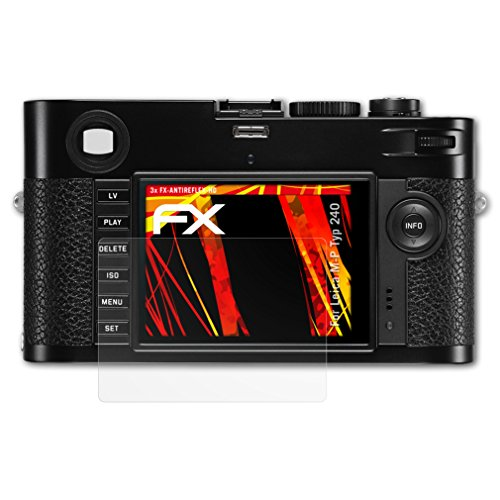 atFoliX Schutzfolie kompatibel mit Leica M-P Typ 240 Displayschutzfolie, HD-Entspiegelung FX Folie (3X)