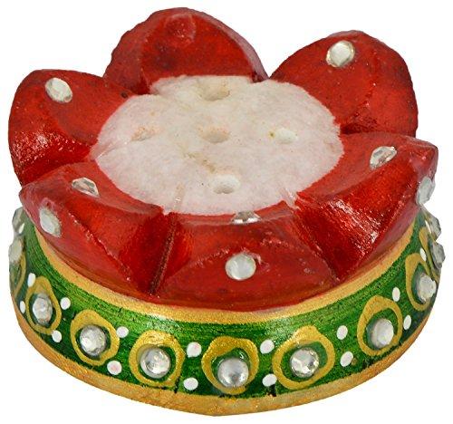 Saudeep India Trading Corporation Marble Agarbatti Stand, Incense Stick Holder, Stand (4...