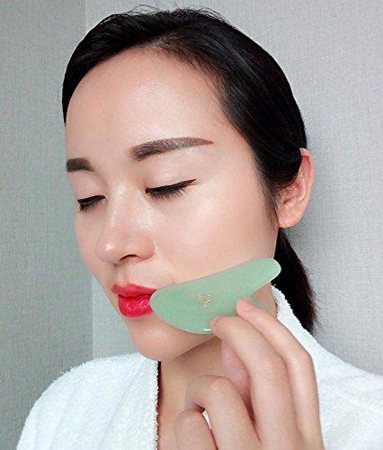 Outil Jade Gua Sha pour massage du visage, massage lymphatique, rajeunissement de la peau, détox et renouvellement de la peau, cosmétique anti-âge, anti rides, beauté Img 3 Zoom