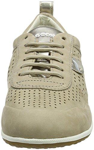 Geox Damen D Vega B Sneaker Beige (Beige)