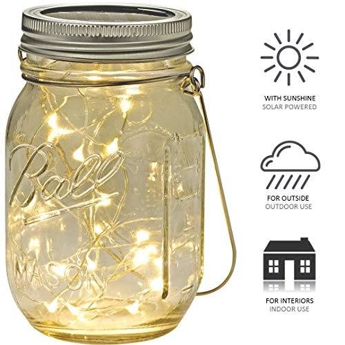 Aotlet lampara solar exterior luz solar jardin bombilla