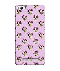 PrintVisa Designer Back Case Cover for Xiaomi Mi 4i :: Xiaomi Redmi Mi 4i (Cute Cartoon Image With Hearts In Pink)